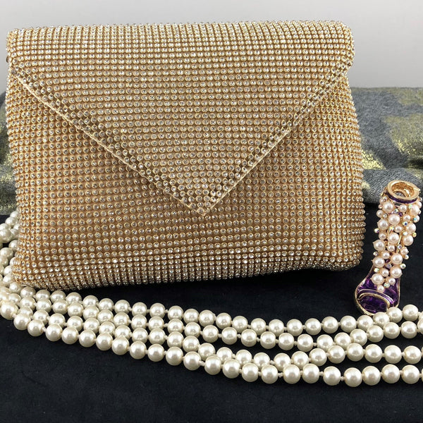 Gold Mesh Clutch | Fashion Jewellery Outlet