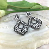Bridal Cubic Zirconia Earrings, 18K Plated