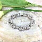 Cubic Zirconia Designer Inspired Link Bridal Bracelet | Fashion Jewellery Outlet