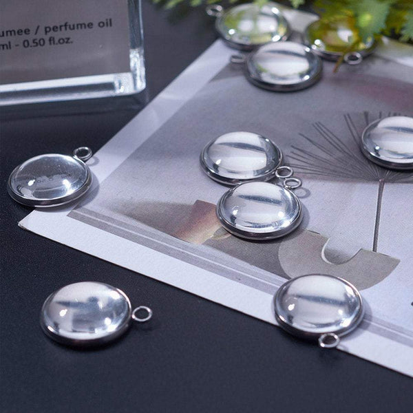 Round Stainless Steel Photo frame Pendant