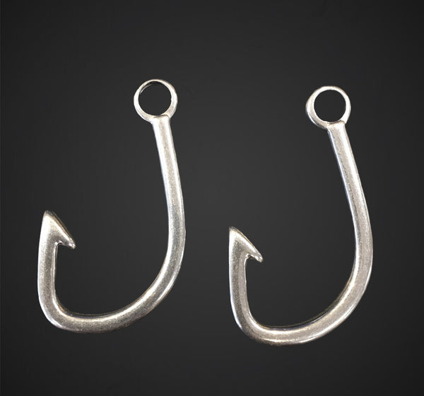 Stainless Steel Fish Hook Charm | Fashion Jewellery Outlet