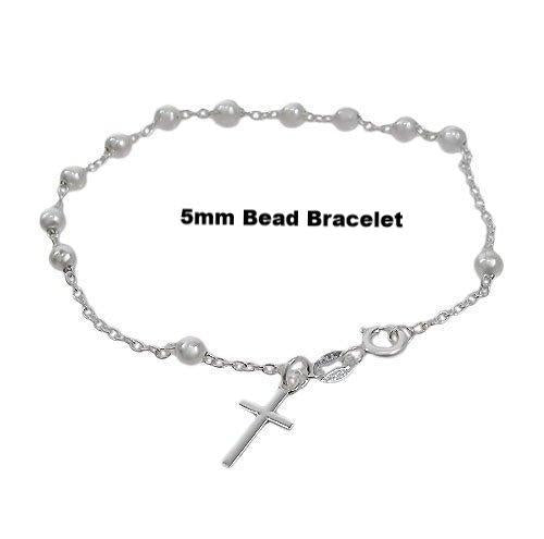 Sterling Silver Rosary Bracelet | Fashion Jewellery Outlet
