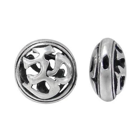 Sterling Silver Om Bead Connector | Fashion Jewellery Outlet