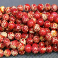 10mm Imperial Sediment Red Bead