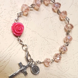 Pink Rosary Bracelet | Fashion Jewellery Outlet