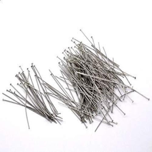 Head Pins, Rhodium | Fashion Jewellery Outlet