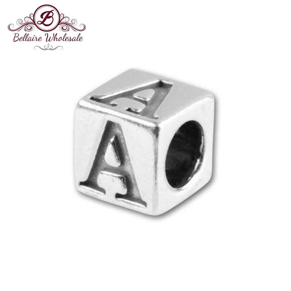 Sterling Silver Alphabet Cube 4.5Mm Letter Jewellery | Fashion Jewellery Outlet