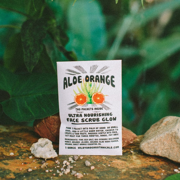 Aloe Orange Face Scrub Mask