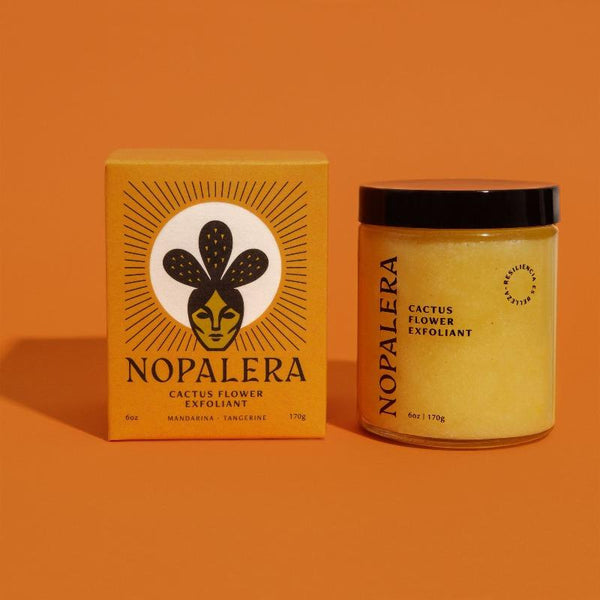 Nopalera's Cactus Flower Exfoliant joins cactus and oil together to create a scrub that gently exfoliates