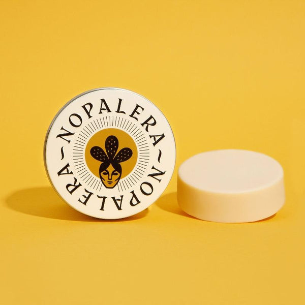 Nopalera's uniquely formulated solid moisturizer featuring plant butters, oils, and Mexican botanicals to bring deep hydration to the skin