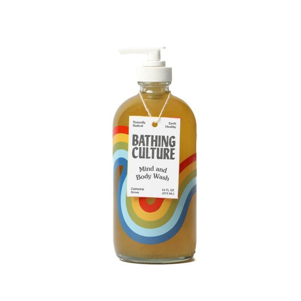 Mind and Body Wash with Refillable Rainbow Glass