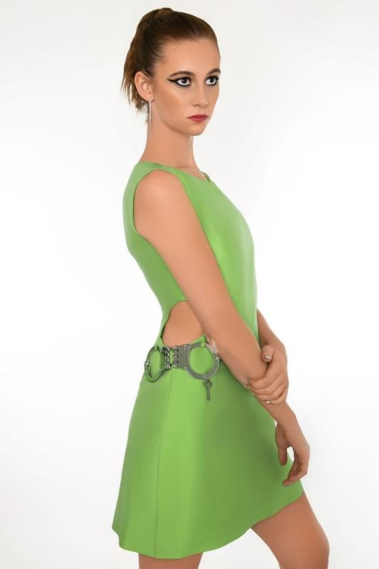 "Signature Hip ""HANDCUFF"" Dress - Green"
