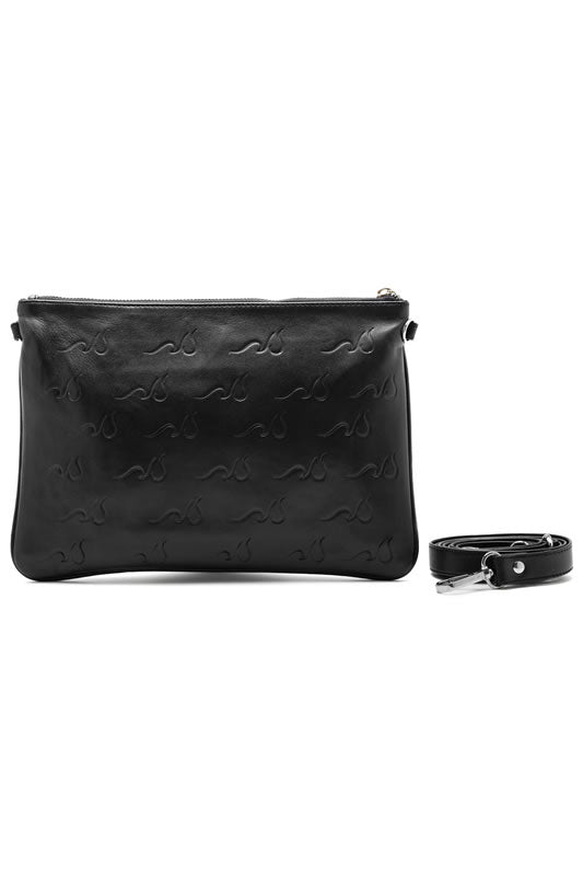 Sfumato Sequins Leather Logo Bag, Silver Hardware