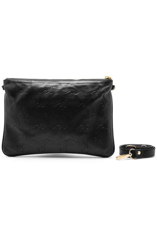 Sfumato Sequins Leather Logo Bag, Gold Hardware