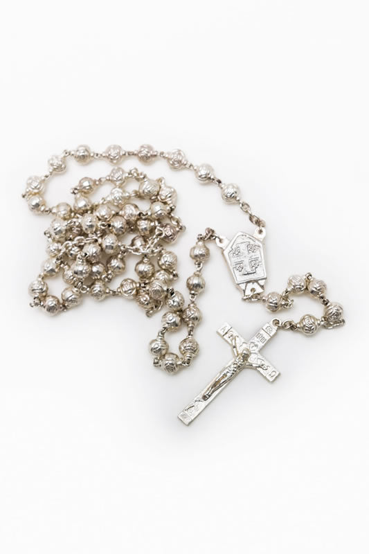 Load image into Gallery viewer, Handmade Silver Rosary
