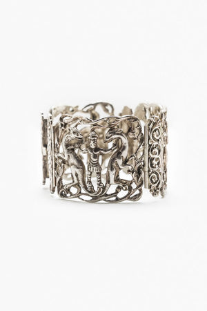 Load image into Gallery viewer, Folclore Handmade Silver Bracelet 7""