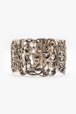 Load image into Gallery viewer, Folclore Handmade Silver Bracelet 8""