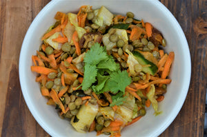 Lentil salad with curry