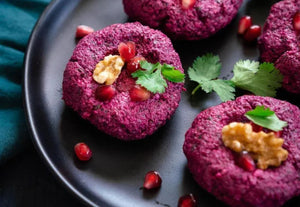 Georgian Beet and Walnut Veggie Pate (Beet Pkhali)