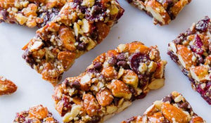 Cranberry, almond and chocolate chewy bars