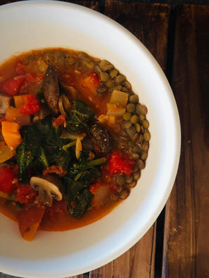 African Sweet Potato and Lentil Stew
