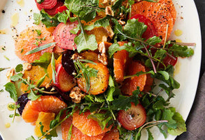 Grilled beet, citrus and pomegranate salad