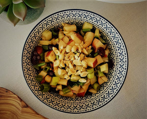 A small refreshing salad - Legumes-Apples-Cranberries