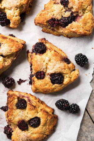 Blackberry, Orange and Almond Scones