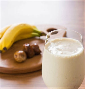 Banana-tahini iced smoothie