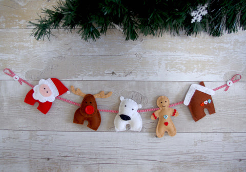 Felt Christmas Garland Diy Craft Tutorial Felttails Holiday Decor