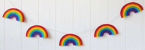 How to make a Felt Rainbow