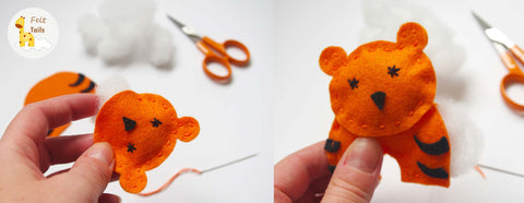 Sew Your Own Felt Animal Garland