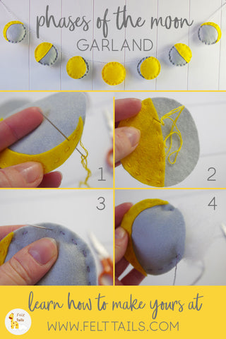 DIY Felt Phases of the Moon Garland