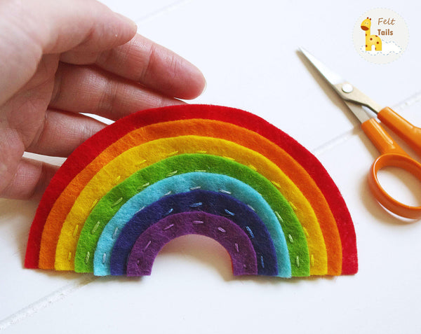 Rainbow nursery garland