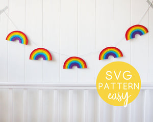 DIY Felt Rainbow Garland - Downloadable SVG Pattern