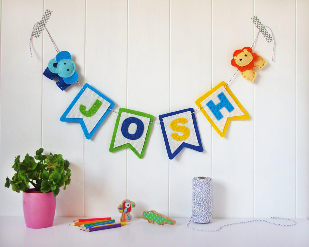 Felt Animal Name Banner Felttails