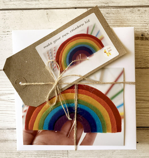 Felt rainbow craft tutorial