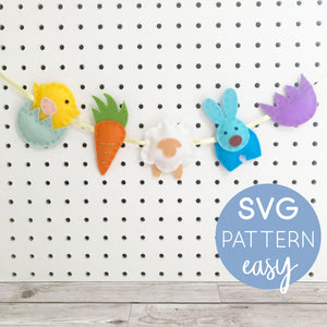 Sewing Pattern Easter Garland SVG