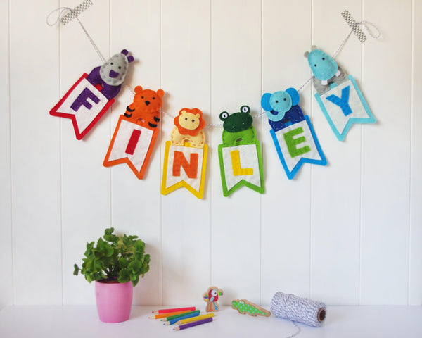 Jungle animal name garland