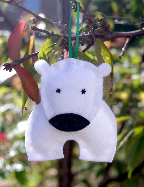 Felt Polar Bear Ornament