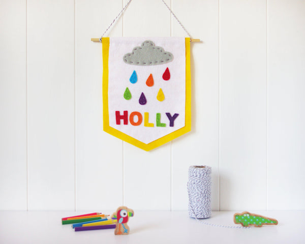 Raindrop nursery wall decor