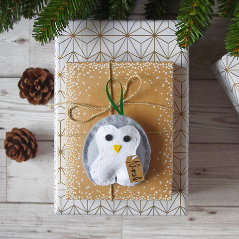 Felt Penguin Christmas Tree Decoration