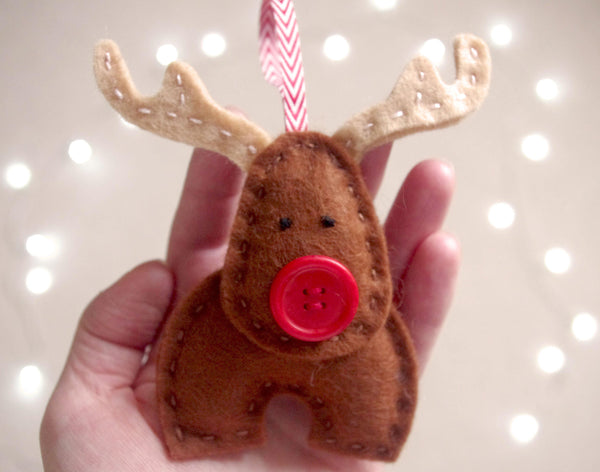 Felt Reindeer Sewing Tutorial