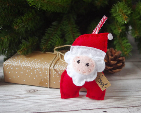 Felt Santa Christmas Tree Decoration