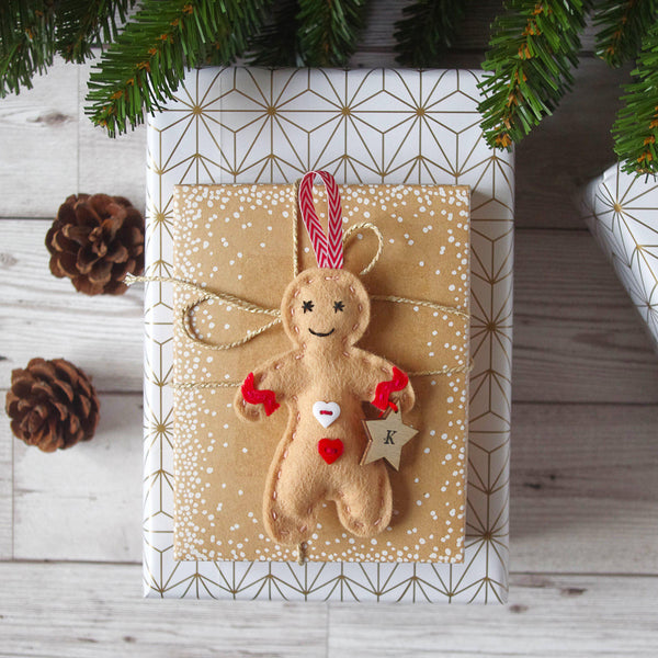 Gingerbread Man Christmas Tree Decoration