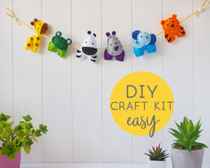 Felt Animal Garland Sewing Kit