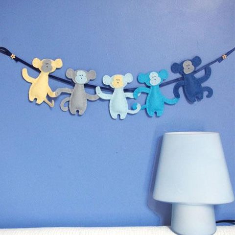 Monkey nursery garland