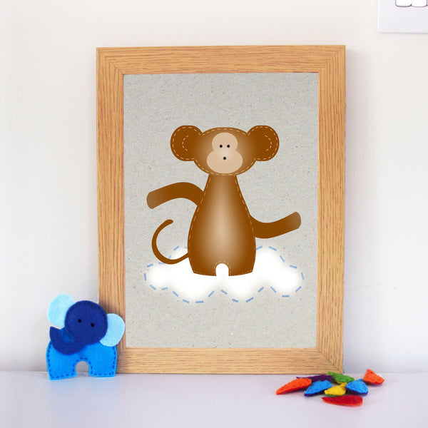 Monkey Nursery Wall Art