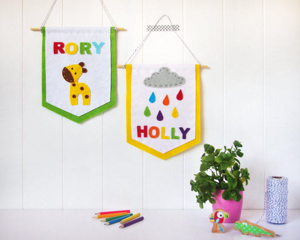 Nursery name banners