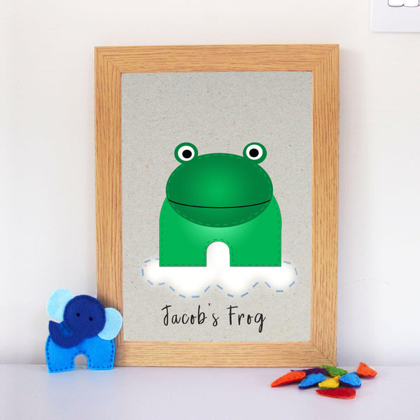 Personalised Frog Nursery Artwork